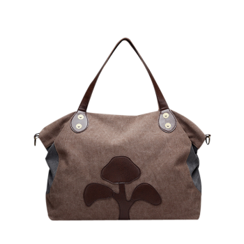 Tree Pattern Canvas Weekend Tote Bag