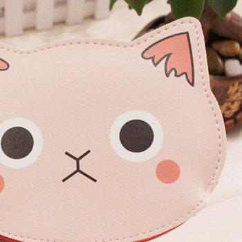 Cartoon Cat Faux Leather Coin Purse -  SHALLOW PINK