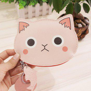 Cartoon Cat Faux Leather Coin Purse - SHALLOW PINK SHALLOW PINK