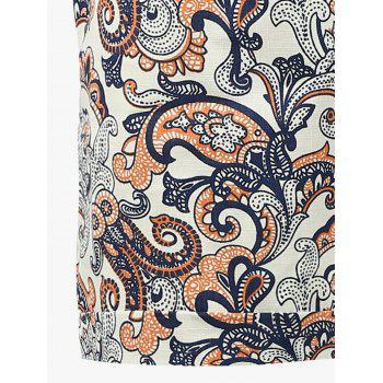 All Over Print Drawstring Shorts - Brun Légère 5XL