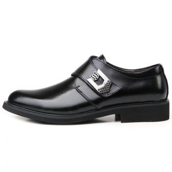 Metal Embellishment Faux Leather Formal Shoes - BLACK 43