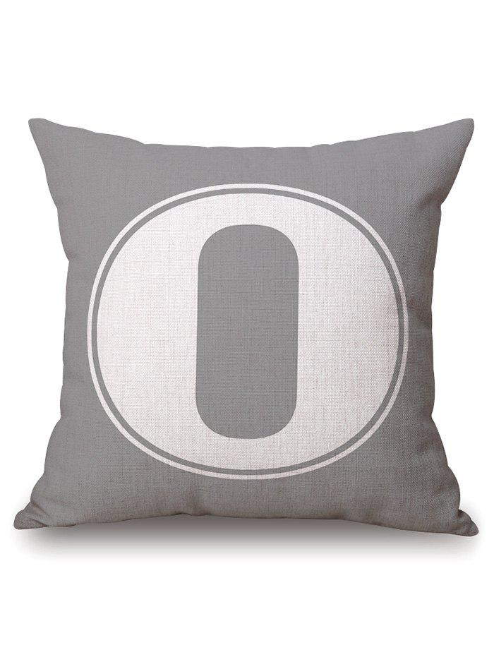 Number Zero Cotton Linen Throw Pillowcase цена