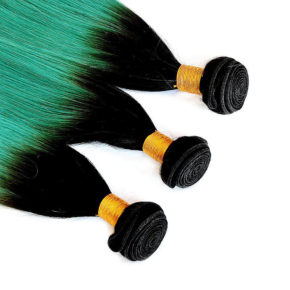 1 Pc/Lot Glossy Straight 8A Virgin Brazilian Hair Weave - COLORMIX 16INCH
