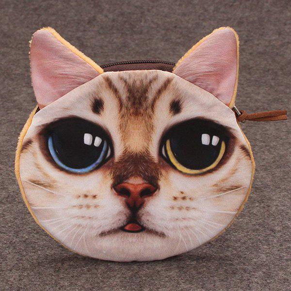 3D Cat Painted Funny Coin Purse