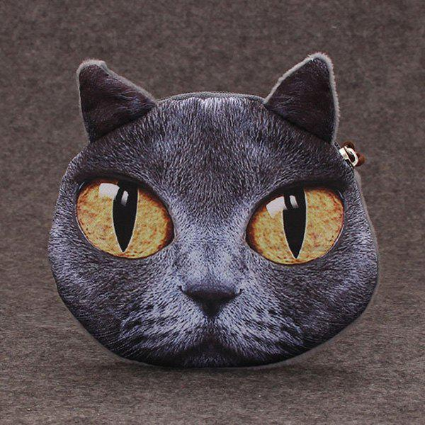 Cat 3D Painted  Coin Purse