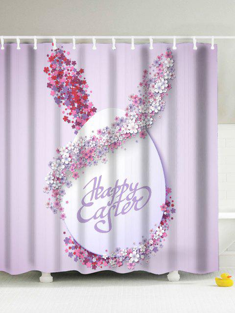 Easter Decor Anti-Bacterial Waterproof Shower Curtain - PINK 180*180CM