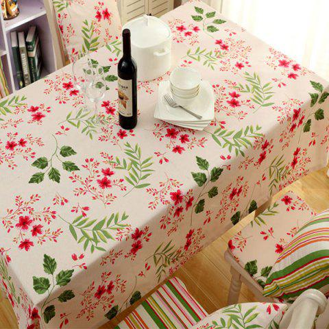 Countryside Style Flower Oilproof Waterproof Table Cloth - APRICOT 140*180CM
