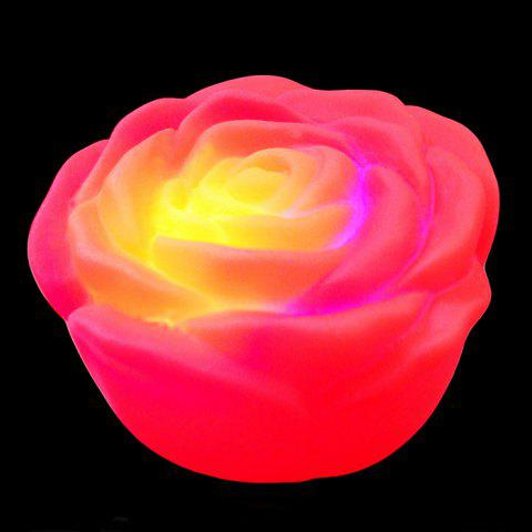 Colorful LED Rose Night Light - RED