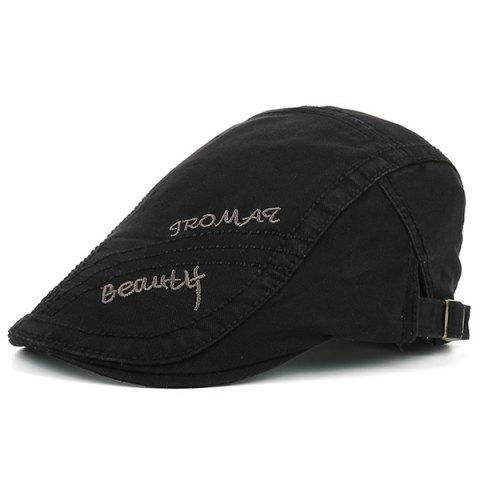 Béret Protection UV avec Inscription Tromaq Beauty Brodée - Noir