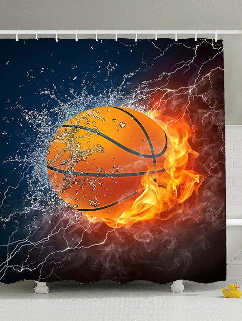 3D Burny Basketball Polyester Fabric Shower Curtain - COLORMIX 150*180CM
