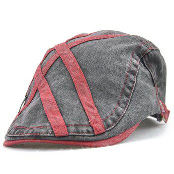 Sewing Thread Cross Stripes Cabbie Hat