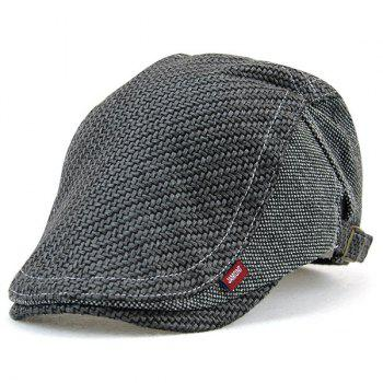Sewing Splicing Texture Newsboy Cap