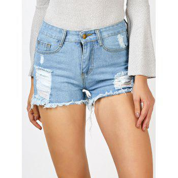 High Waisted Cut Off Denim Shorts