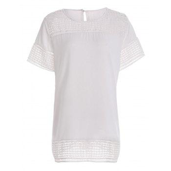 Plus Size Openwork Tunic Top