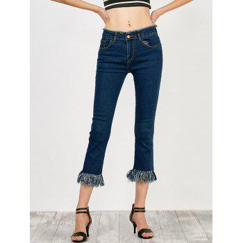 Fringed High Rise Cropped Jeans