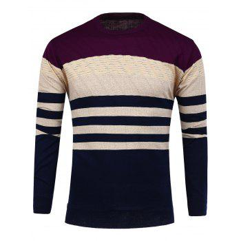 Stripe  Crew Neck Knitwear