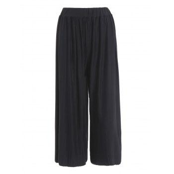 Plus Size Pleated Culotte Pants