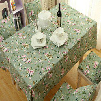 Countryside Style Flower Oilproof Waterproof Table Cloth