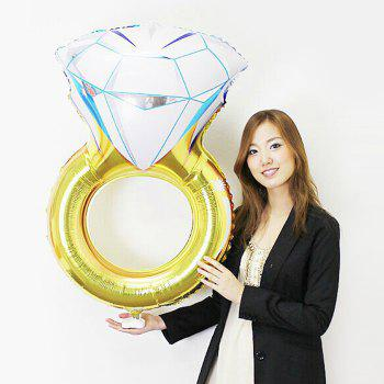 Diamod Ring Shape Aluminium Foil Balloon