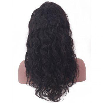 Long Slightly Curly Human Hair Lace Front Wig - NATURAL COLOR NATURAL COLOR