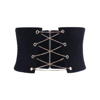 Zipper Up Corset with Chains