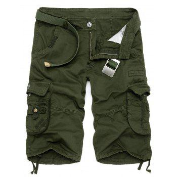 Drawstring Design Multi Pockets Cargo Shorts