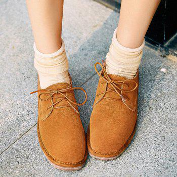 Suede Round Toe Flat Shoes