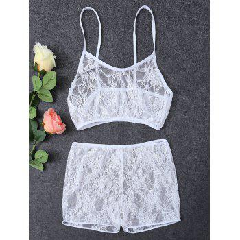Straps Lace See-Through Bra and Boxers