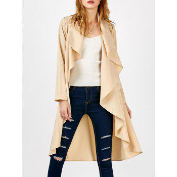 Asymmetrical Open Front Drape Coat