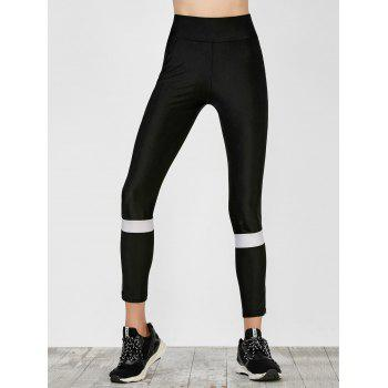 Two Tone Mesh Panel Running Leggings
