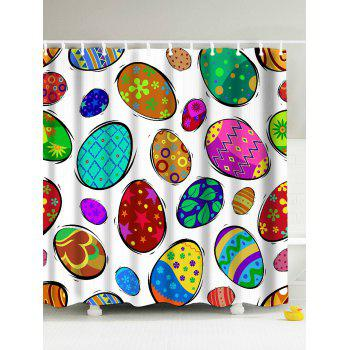 Easter Decor Colorful Eggs Eco-Friendly Shower Curtain