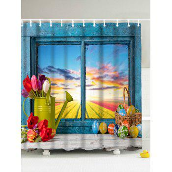 Easter Mildew Resistant Polyester Fabric Shower Curtain