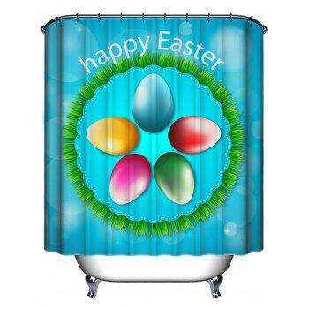 Happy Easter Polyester Fabric Shower Curtain - FUSION 180*180CM