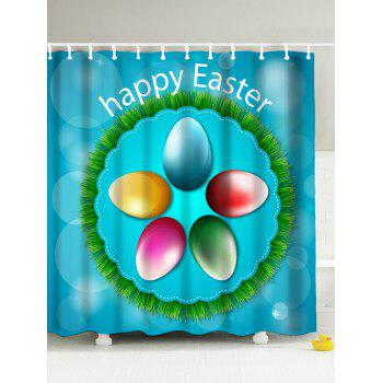 Happy Easter Polyester Fabric Shower Curtain