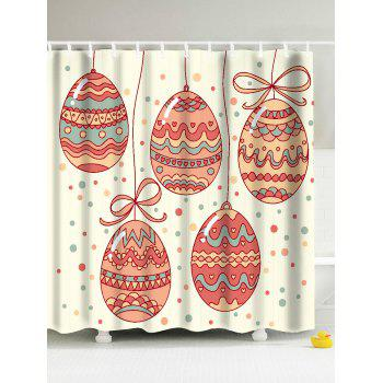 Eco-Friendly Easter Egg Antibacteria Shower Curtain