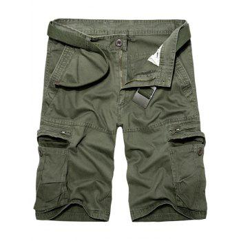 Multi Pockets Staright Leg Cotton Cargo Shorts