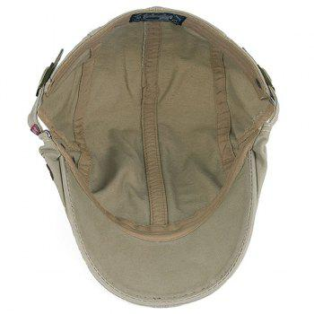 Embroideried UV Protection Cadet Hat - LIGHT KHAKI