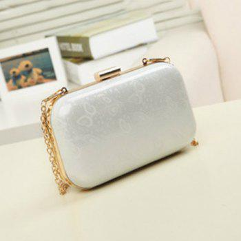 Metal Trimmed Evening Clutch Bag