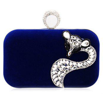 Fox Rhinestone Velour Evening Bag