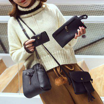 4 Piece Buckle Strap Crossbody Bag Set