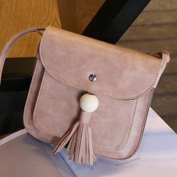 Wood Bead Tassel Cross Body Bag