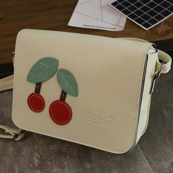 Flap Cherry Patch Cross Body Bag