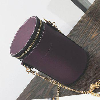 Cylinder Shaped Chains Detail Cross Body Bag