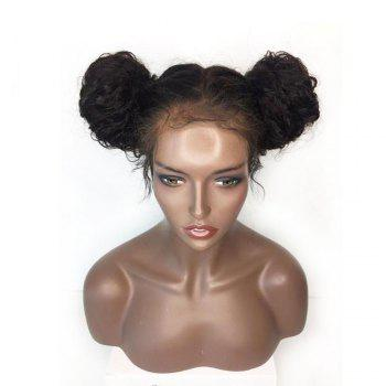 Long Kinky Curly Lace Frontal Synthetic Wig - BLACK