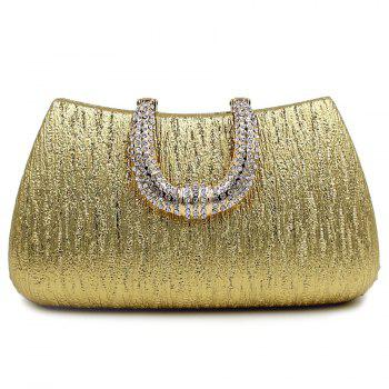 Rhinestone PU Leather Evening Clutch Bag