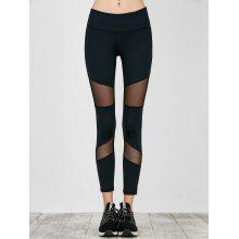 Workout Mesh Panel Running Leggings
