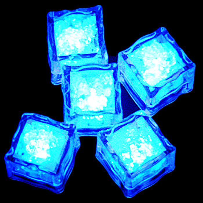 LED Light Up Flash Ice Cube - BLUE