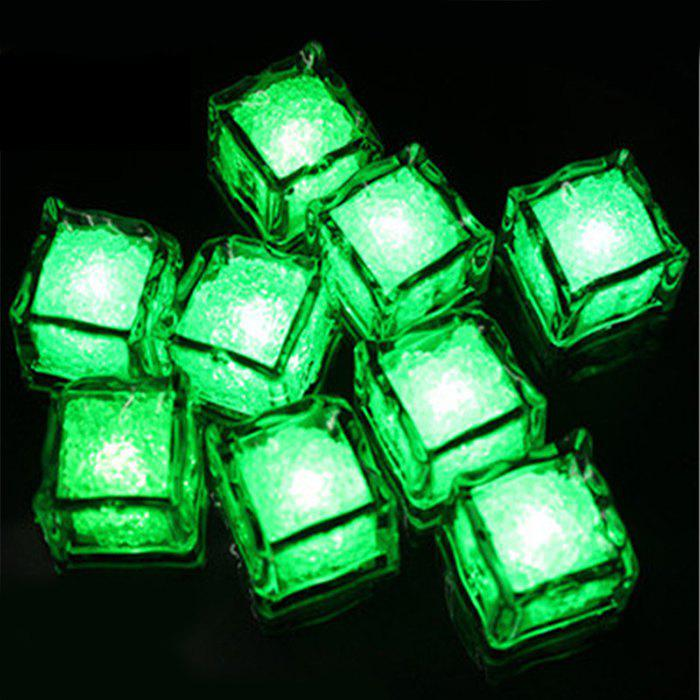 LED Light Up flash Ice Cube - Vert