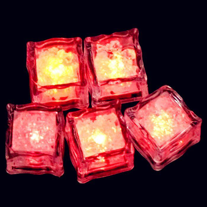 LED Light Up flash Ice Cube - Rouge