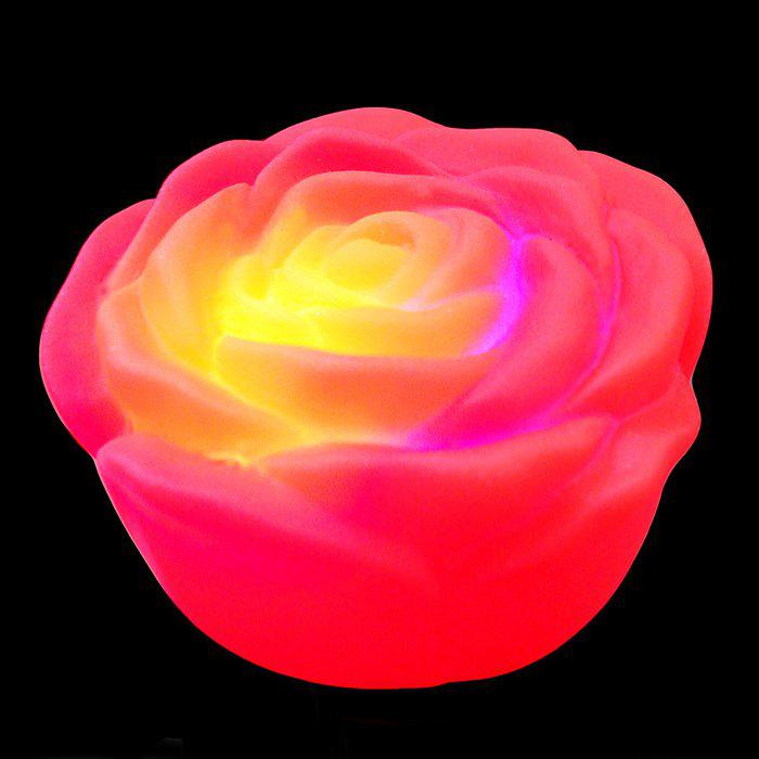 Colorful Rose LED Night Light - Rouge